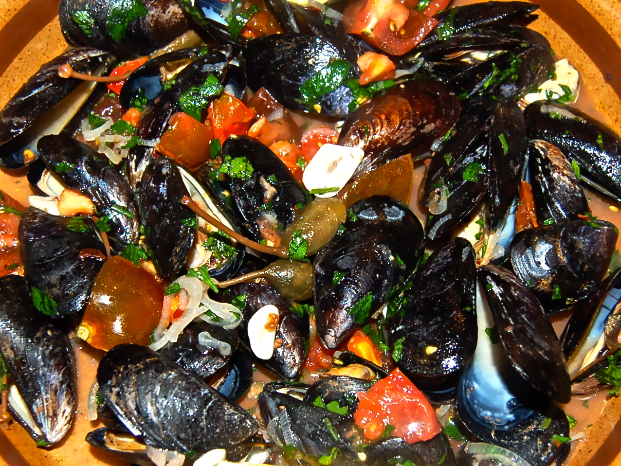 February 9 2012 mussels in white wine sauce