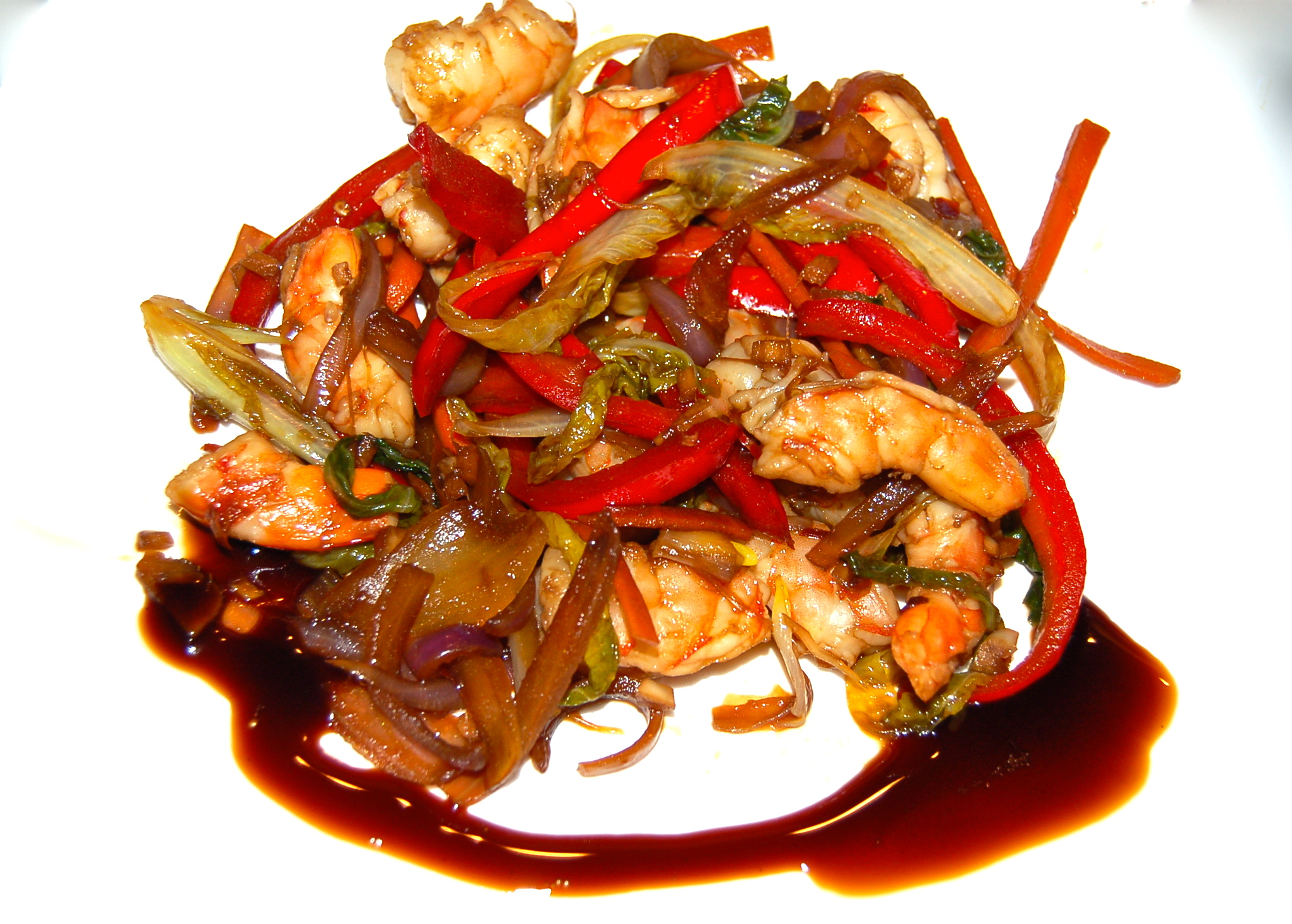 how to make stir fry shrimp and vegetables