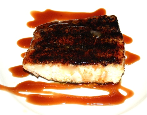 Swordfish with Blood Orange Balsamic Glaze