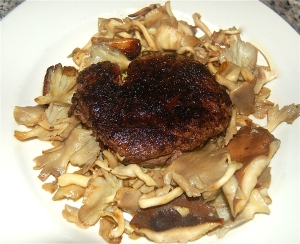 Filet Mignon with   Oyster Mushrooms in Marsala sauce